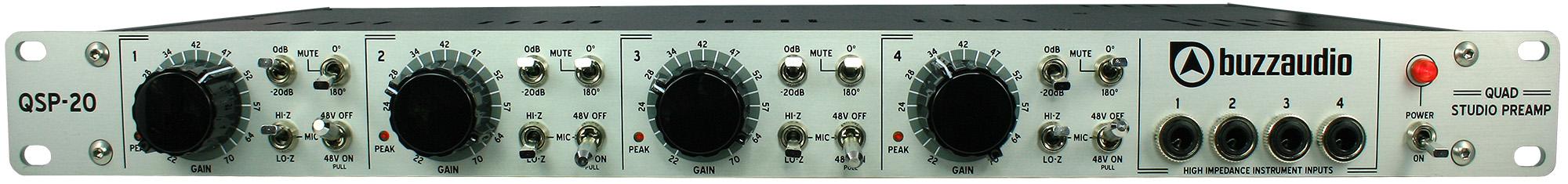 QSP-20 Quad Studio Preamplifier - Buzz Audio
